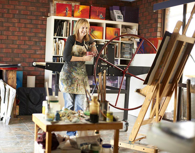 Shana James her art studio