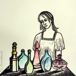 Linocut Choices by Shana James
