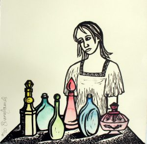 Linocut Choices by Shana James