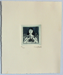 Window Girl Etching by Shana James