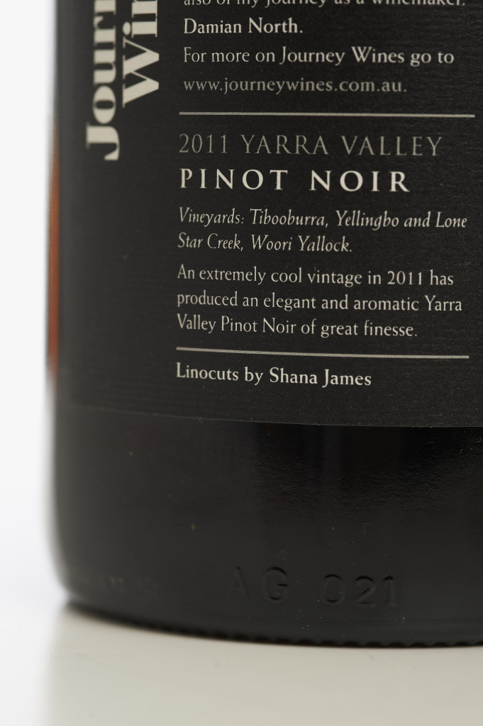 Journey Wines Back Lable