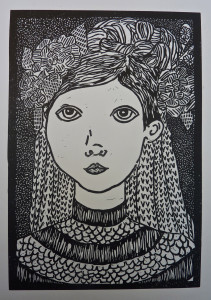 Laura Whittock's Linocut