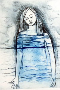 Expanse - drypoint intaglio print by Shana James $265