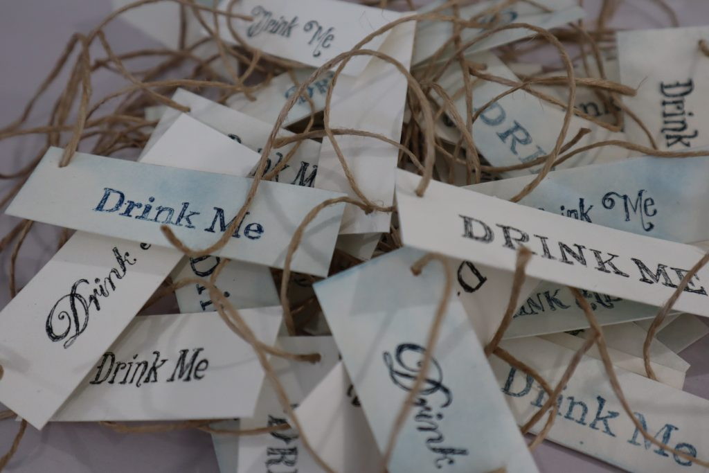Drink Me Labels - handmade etchings