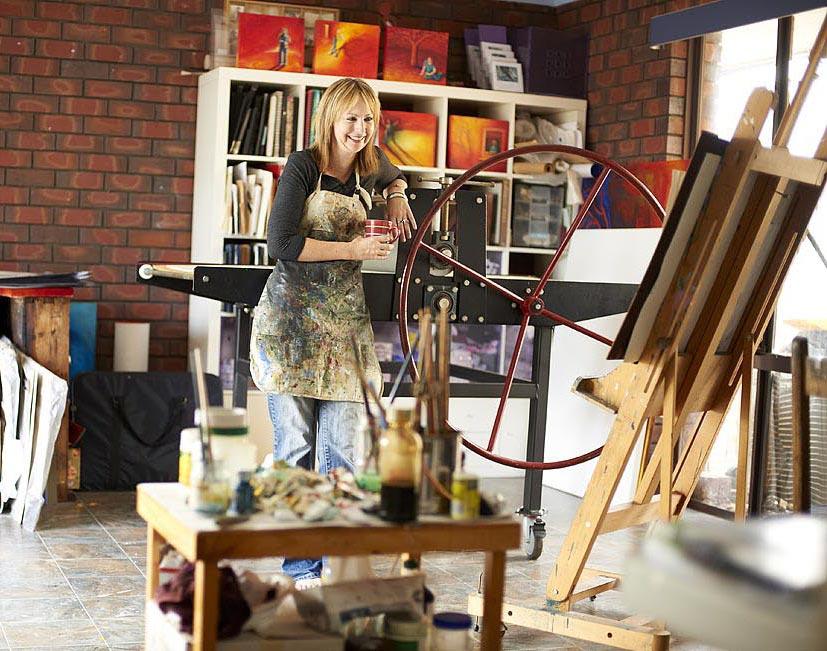 Shana James her art studio