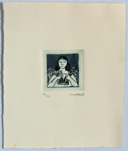 Window Girl Etching by Shana James