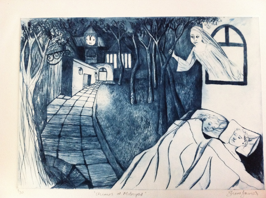 The Chimes at Midnight Drypoint by Shana James