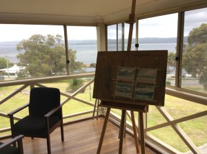 Inside the art space at Mary Thomson House