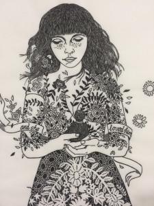 Linocut by Nadia Cullinane
