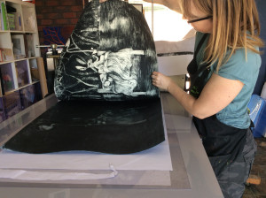 Shana James Lifting Drypoint