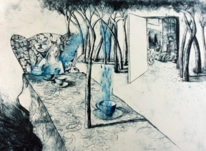 I Can't go Back to Yesterday because I was a Different Person Then - Drypoint by Shana James $720